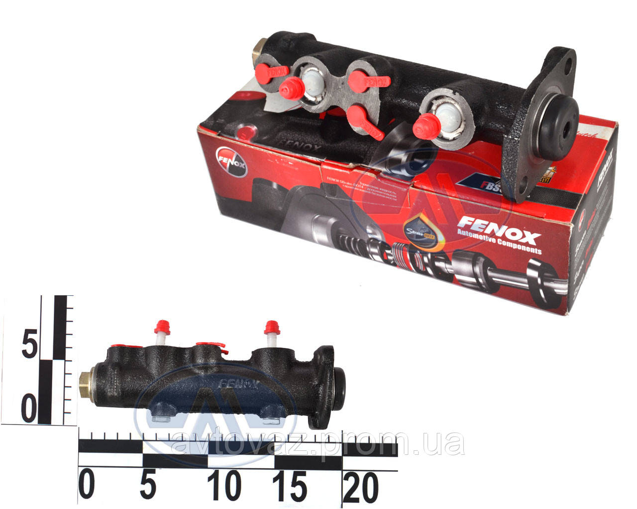Цилиндр главный тормозной, ГТЦ, ВАЗ 2101, 2102, 2103, 2104, 2105, 2106, 2107 Fenox