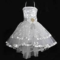 Ошатне пишну сукню зі шлейфом для дівчинки., фото 1