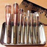 Набор кистей для макияжа KYLIE в металлическом футляре (7 предметов)