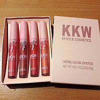 Набор кремовых помад KKW Creme Liquid Lipstick by Kylie Cosmetics, набор (4 цвета), фото 1