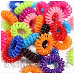 Резинки пружинки (спиральки) цветные d 3 см 100 шт/уп