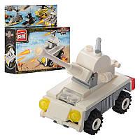 Детский развивающий конструктор игрушка BRICK (Брик) 1221 Военная машина, 53 деталей, конструктор лего-типа