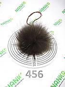 Меховой помпон Енот, 9/12 см, 456