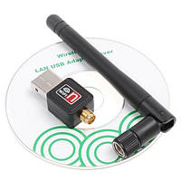 USB Wi-Fi 150mbps адаптер с антенной + диск