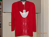 Красная кофточка с манишкой из шитья Jus d'Orange, фото 1