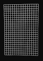 Торговая сетка навесная белая 1.2х0.75м, ячейка 50х50мм , ∅ 3мм