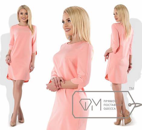 Однотонное прямое платье, фото 2