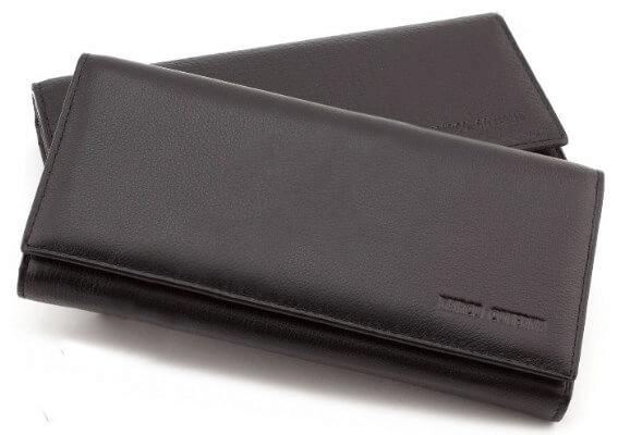 Horton Collection Кошелёк из натуральной кожи в черном цвете TRW8586A