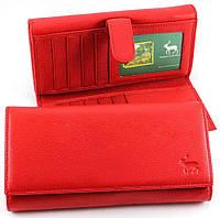 Horton Collection красный Кошелёк женский из натуральной кожи с блоком для кредитных карт HORTON TRW7939R