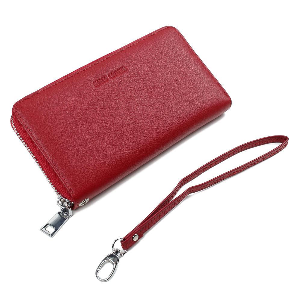 Horton Collection Женский клатч из натуральной кожи в красном цвете TRW2996R