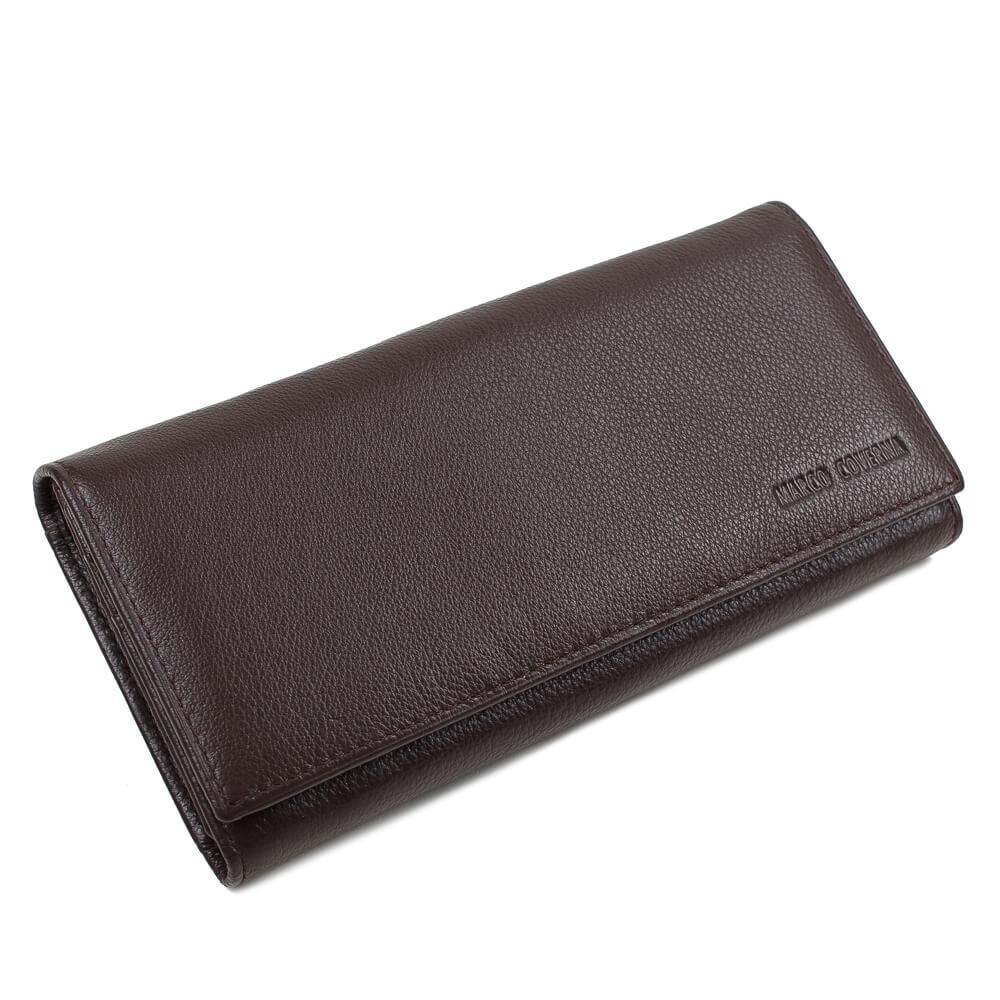Horton Collection Женский кошелёк из натуральной кожи в коричневом цвете TRW8584B