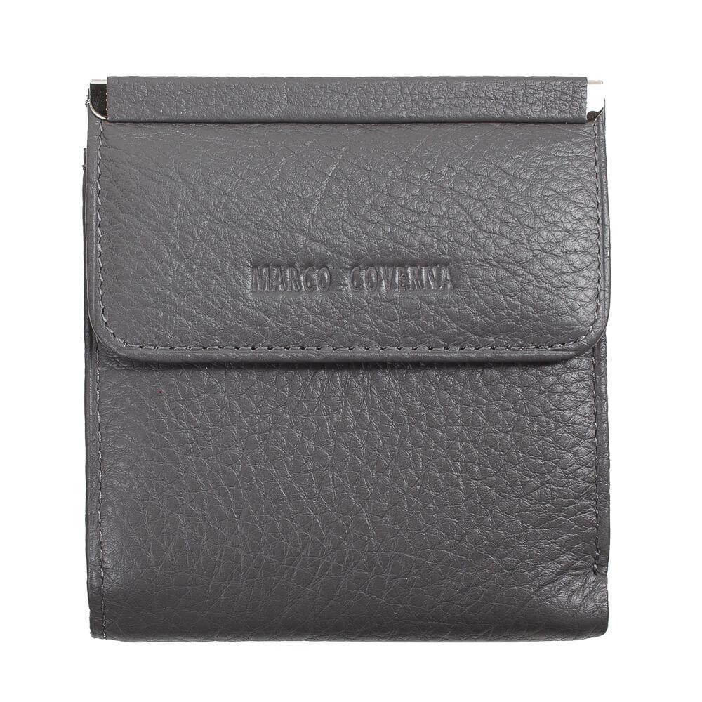 Horton Collection квадратный Женский кошелёк из натуральной кожи в сером цвете TRW786G