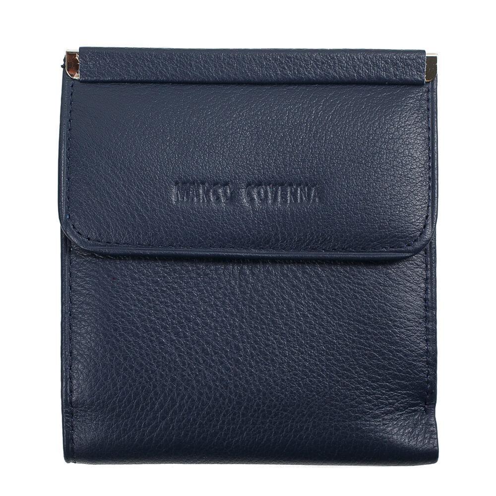 Horton Collection квадратный Женский кошелёк из натуральной кожи в синем цвете TRW786BL