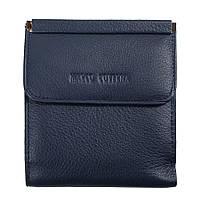 921acabcee0f Horton Collection квадратный Женский кошелёк из натуральной кожи в синем  цвете TRW786BL