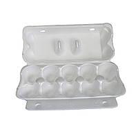 Упаковка для яиц 250x105x65 мм. из вспененного полистирола, белая