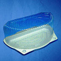 Упаковка для половины торта 260х156х79 мм., 2500 мл. полу круглой формы