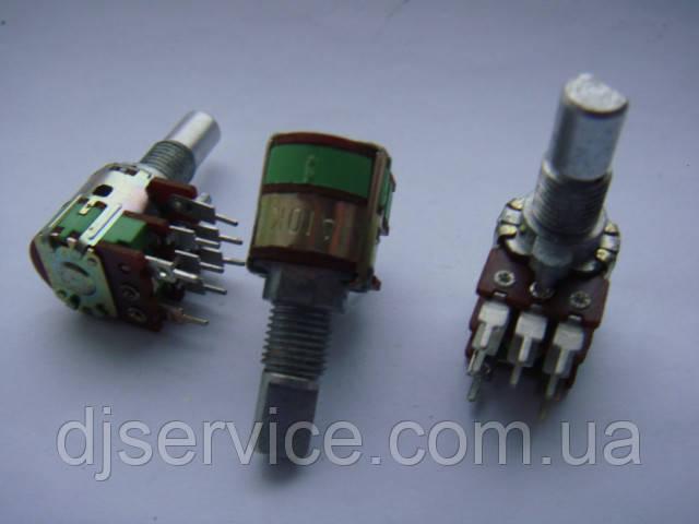 Потенциометр ALPHA  a10k 15mm с выключателем для пультов