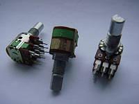 Потенциометр ALPHA  a10k 15mm с выключателем для пультов, фото 1