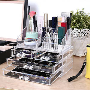 Органайзер для косметики Cosmetic Box 4 Drawer Акриловый органайзер для косметики настольный