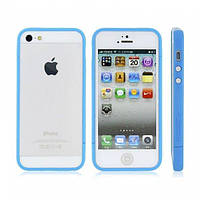 РАСПРОДАЖА! Glossy Injection Painting Design PC Up & Down Protective Frame for iPhone 5 (Blue)