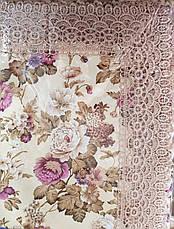 Скатерть прямоугольная цветочный принт 120*150. , фото 3
