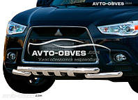 Защита переднего бампера модельная для Mitsubishi ASX 2010 - 2013
