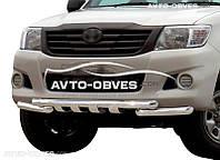Защита переднего бампера модельная для Toyota Hilux 2012-2015