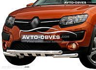 Защита переднего бампера модельная для Renault Sandero Stepway 2013-...