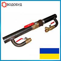 Байпас 40 длинный кран для систем отопления и циркуляционного насоса