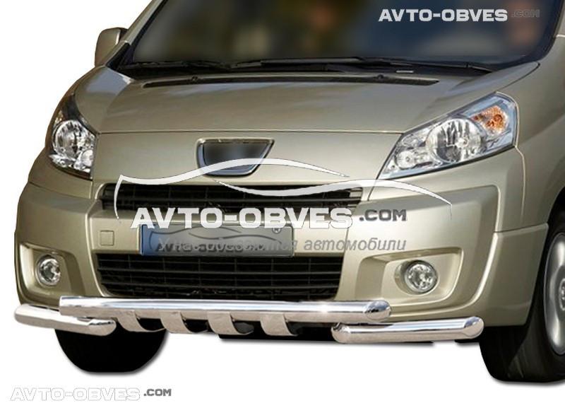 Защита переднего бампера модельная для Фиат Скудо 2007-2016