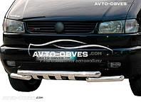 Защита переднего бампера модельная для Volkswagen T4 (Transporter/ Caravelle)