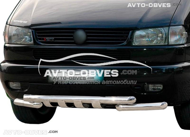 Защита переднего бампера модельная для Фольцваген T4 (Транспортер/ Caravelle)