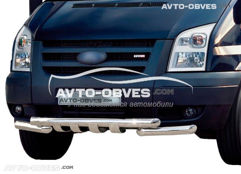 Защита переднего бампера модельная для Форд Транзит 2006-2014