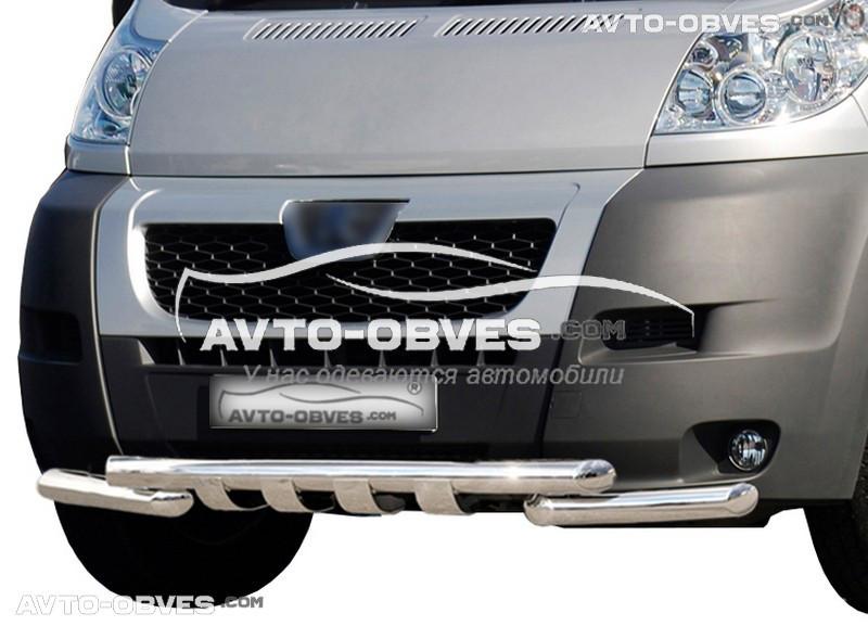 Защита переднего бампера модельная для Ситроен Джампер 2006-2014