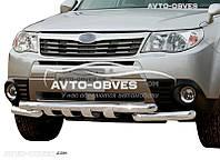 Защита нижнего бампера штатная на Subaru Forester 2008-2012