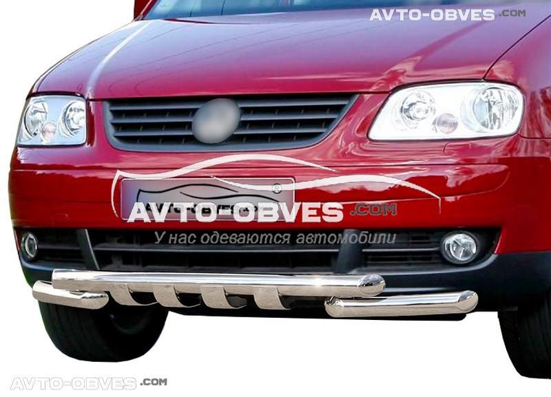 Защита переднего бампера модельная для Фольцваген Кади 2004-2010