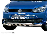 Защита бампера модельная для Volkswagen Caddy 2010-2015