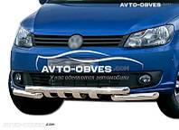 Защита переднего бампера модельная для Volkswagen Caddy 2010-2015