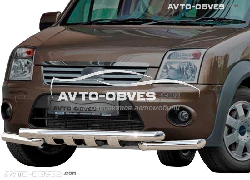 Защита переднего бампера модельная для Форд Коннект 2002 - 2014