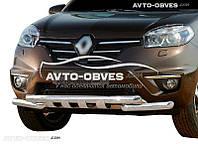 Защита переднего бампера модельная для Renault Koleos