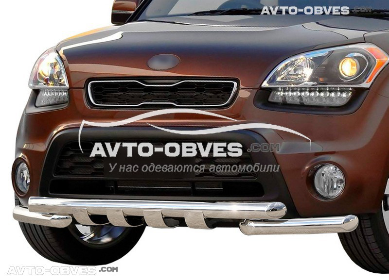 Защита переднего бампера модельная для Киа Соул 2009-2014