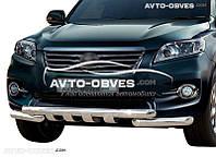 Защита переднего бампера модельная для Toyota Rav4 2010-2012 (под заказ)