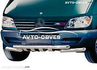 Защита переднего бампера модельная для Mercedes-Benz Sprinter 1996 - 2006