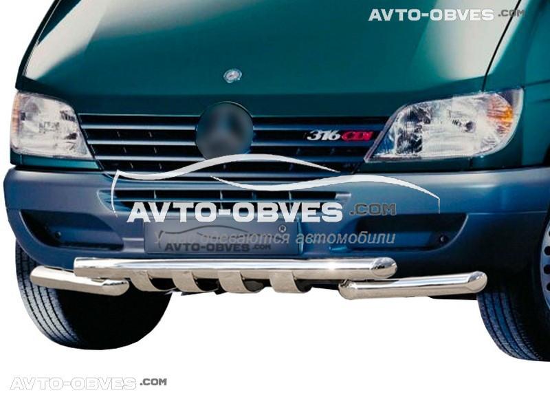 Защита переднего бампера модельная для Мерседес-Бенц Спринтер 1996 - 2006
