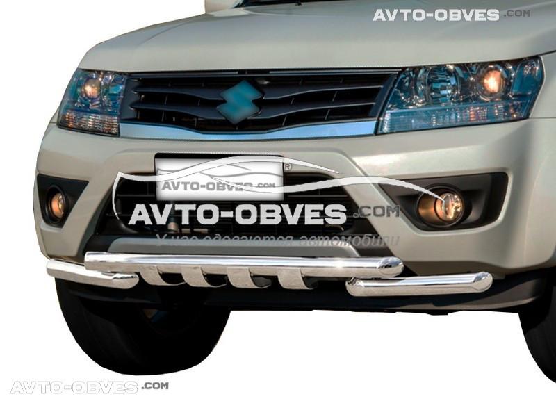 Защита переднего бампера модельная для Сузуки Гранд Витара FL