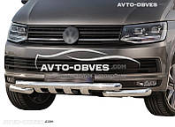 Защита бампера модельная для VolksWagen T6 2015-2020