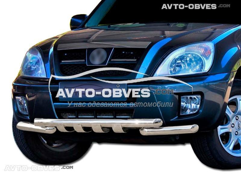 Защита переднего бампера модельная для Чери Тигго 2006-2012