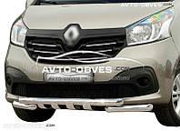 Защита переднего бампера модельная для Renault Trafic III 2015-...