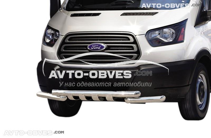 Защита переднего бампера модельная для Форд Транзит 2014-...