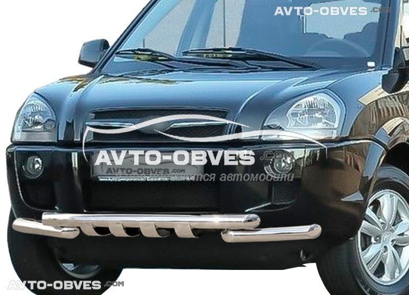 Защита бампера модельная для Hyundai Tucson 2004-2015